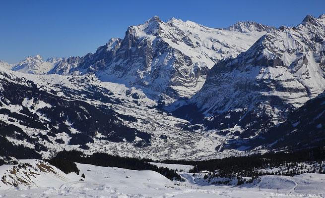 Hier der Blick Richtung Grindelwald mit Wetterhorn.