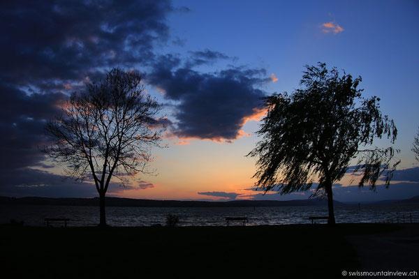 Windiger Abend in Unteruhldingen