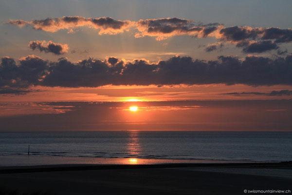 Sonnenuntergang in Ostende