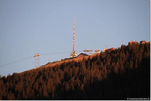 Niederhorn im Morgenrot am 28.08.2011 - ein herrlicher Spätsommermorgen.