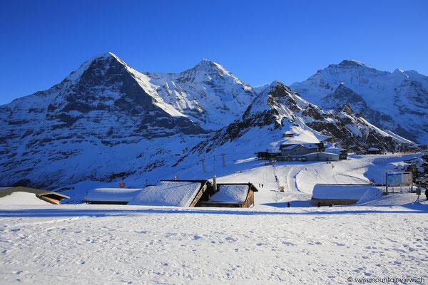 Eiger, Mönch (Tschuggen) und Jungfrau