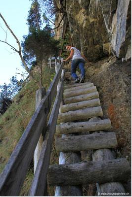 Am Schluss gibt es noch ein paar steile Treppen zu erklimmen