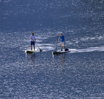 Standup paddling am Eibsee