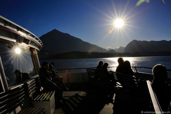enjoying a boat cruise