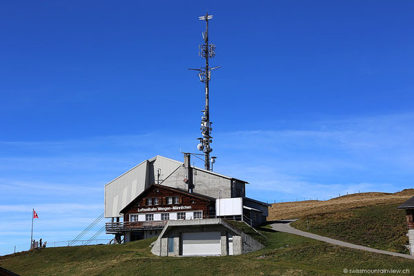 Die Bergstation der Gondelbahn (von Wengen her) auf dem Männlichen.