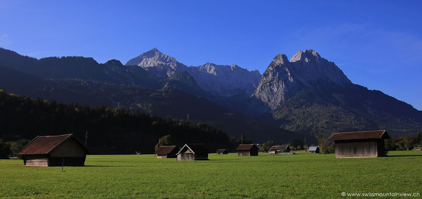Garmisch Partenkirchen mit Zugspitze
