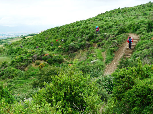 Aufstieg zum Alto del Perdon