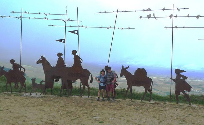 Pilgerdenkmal am Alto del Perdon