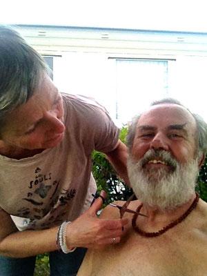 Beim Friseur auf dem Campingplatz in Dieppe