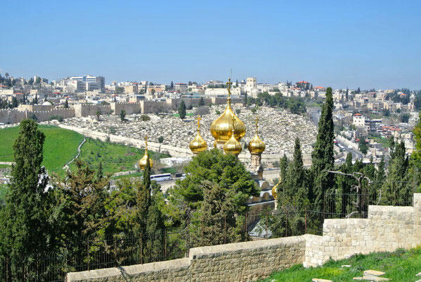 Blick vom Ölberg auf Jerusalem