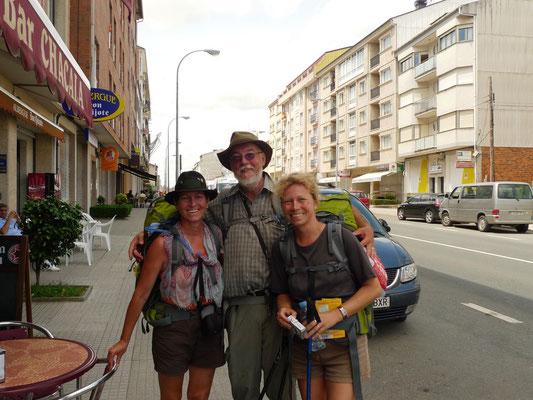 Mit Dietmar und Ines in Arzua