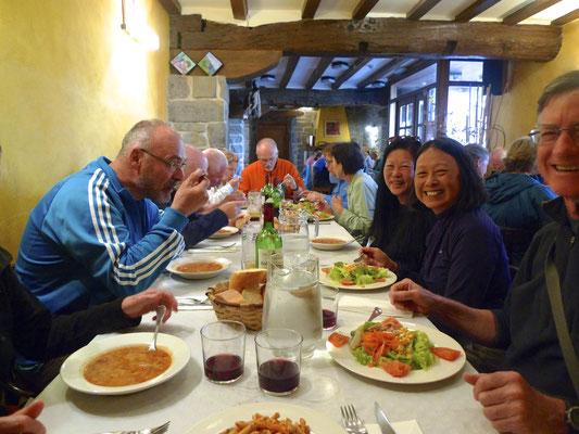 Abendessen in Larrosana