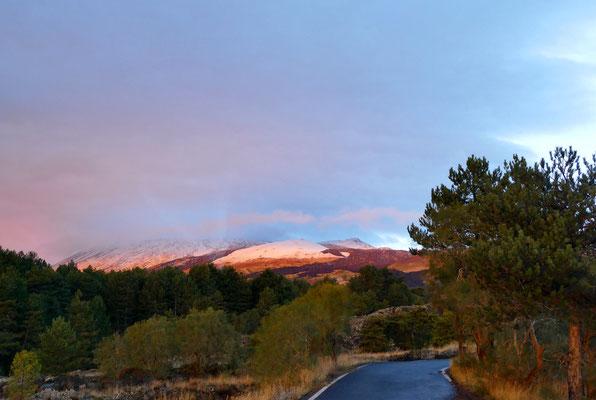 Auf dem Weg zum Etna