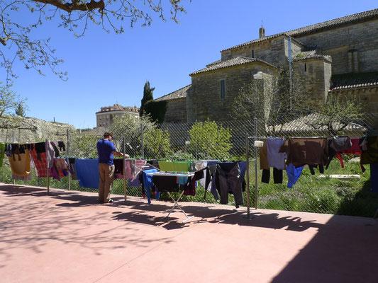 Waschtag in der Herberge von Carrion de los Condes