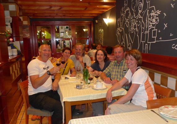 Abschiedsessen von Andrea, Ulli und Martin