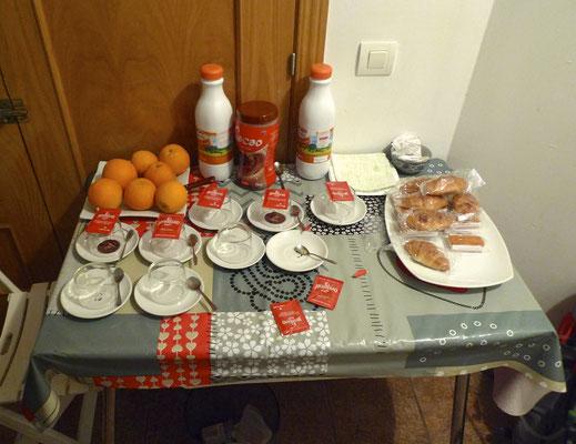 Frühstück in Villambistia