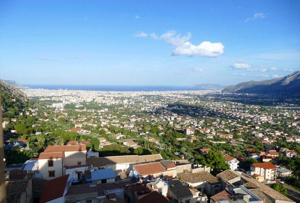 Blick nach Palermo
