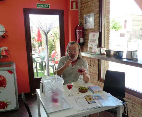 Neue Herberge und guter Wein