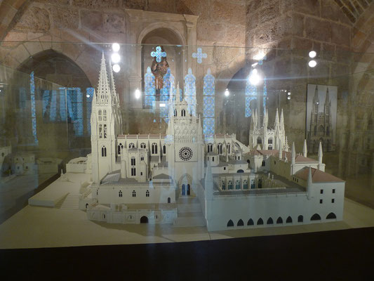Model der Kathedrale von Burgos