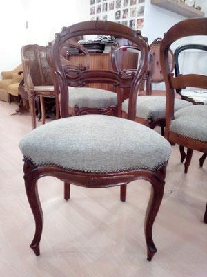 chaise volante Louis Philippe, tapissier décorateur Millau Au Petit Crin