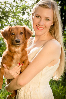 Fotoshooting mit Hund sind bei FOTOS MIT FREUDE - Fotostudio ebenfalls möglich - Photograph Erlangen