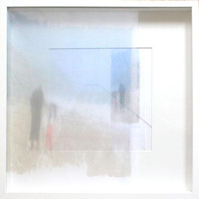 Mer interieure, impression digitale sur papier et voile, 50X50cm