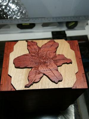 Padauk Enigma box with Cherry/Padauk Lily dial