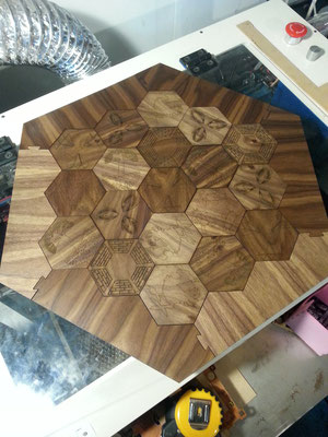 Walnut Settlers board