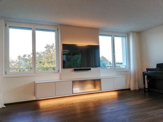 Sideboard mit Nische und LED-Beleuchtung