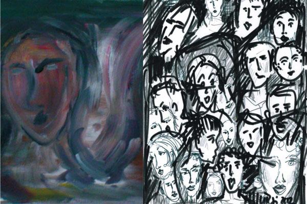 MEINE DAMALIGE EINLADUNGSKARTE ZUR ARTTHUR - DER LINKE BILDAUSSCHNITT STAMMT VOM BILD DAS ICH AN DEN GOSSAUER KÜNSTLERTAGEN VERKAUFT HABE.