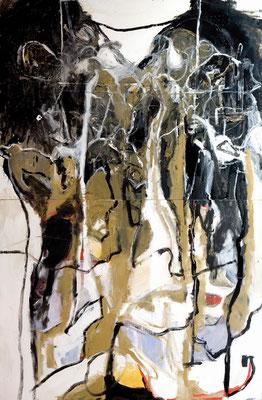 """El peso de la vida"" 146x228 cm. 2009"