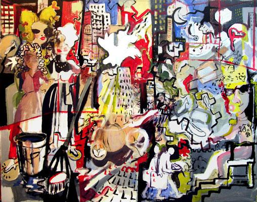 """""""Cenicienta en la ciudad"""", 162x130 cm. 2009"""