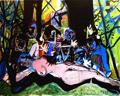 """Blancanieves y siete enanos"", 162x130cm. 2009"
