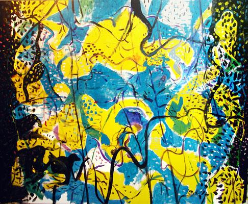 """""""Patito feo perdido"""", 162x130cm. 2009"""