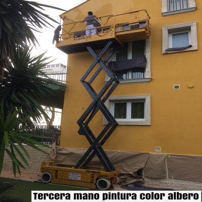 tres capas pintura exterior color albero