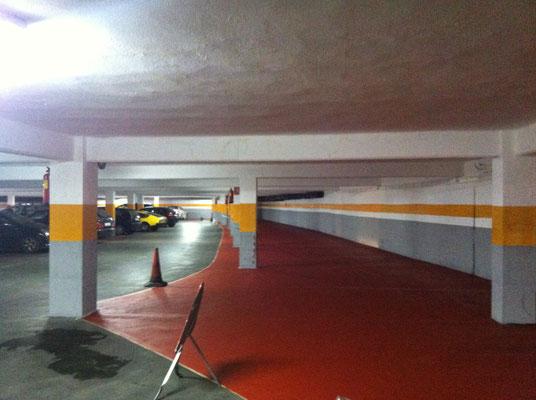 Pintar parking pintar garaje pintor de valencia for Pintura suelo parking