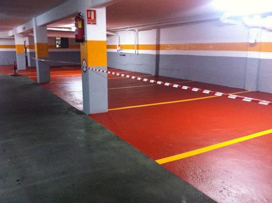 pintura garaje epoxi