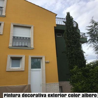 Pintar fachada de chalet pintor de valencia for Pintura color albero