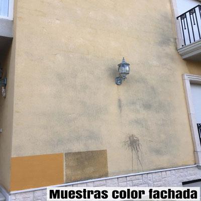 muestras colores fachada