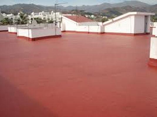 pintar terraza caucho