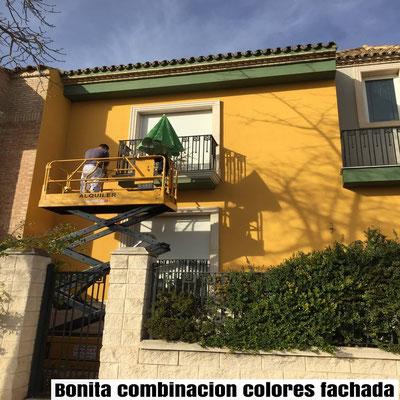 combinaciones de pintura exterior fachada