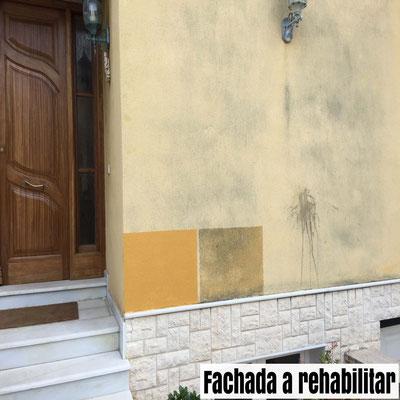 fachada a rehabilitar con pintura
