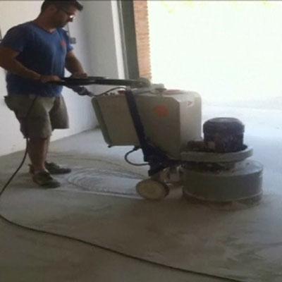 desbastar suelo hormigon en seco