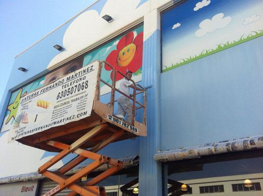 pintura exterior naves