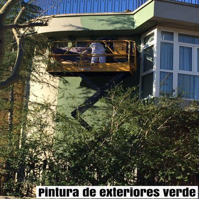 pintura pared exterior verde