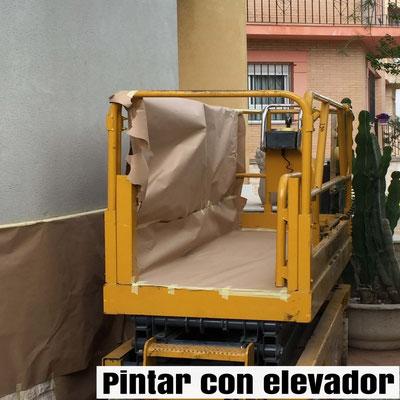 pintar fachada chalet con elevador