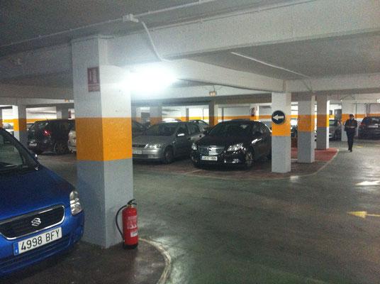 pintura parking suelo