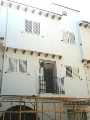 fachada pintada de casas