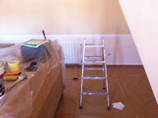 preparativos para pintar