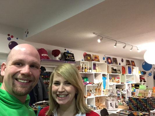 Selfie mit dem Fotografen der schönen Bilder hier und einem meiner neuen Lieblings-Kollegen: Der unvergleichliche Micha Klotzbier